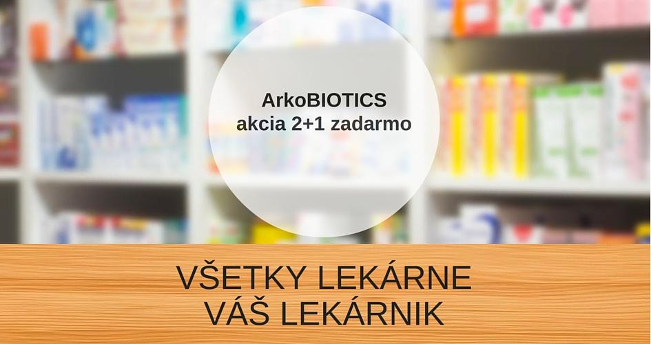 ArkoBIOTICS 2+1 zadarmo – VÁŠ LEKÁRNIK